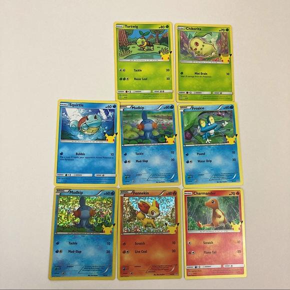 McDonald's Pokemon 25th Anniversary Set 8 Cards